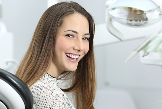 Woman with brilliant white smile