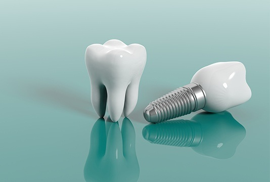 Model tooth and implant supported dental crown